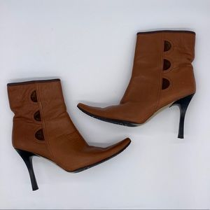 Davos Gomma Brown Leather Boots with Suede Accents